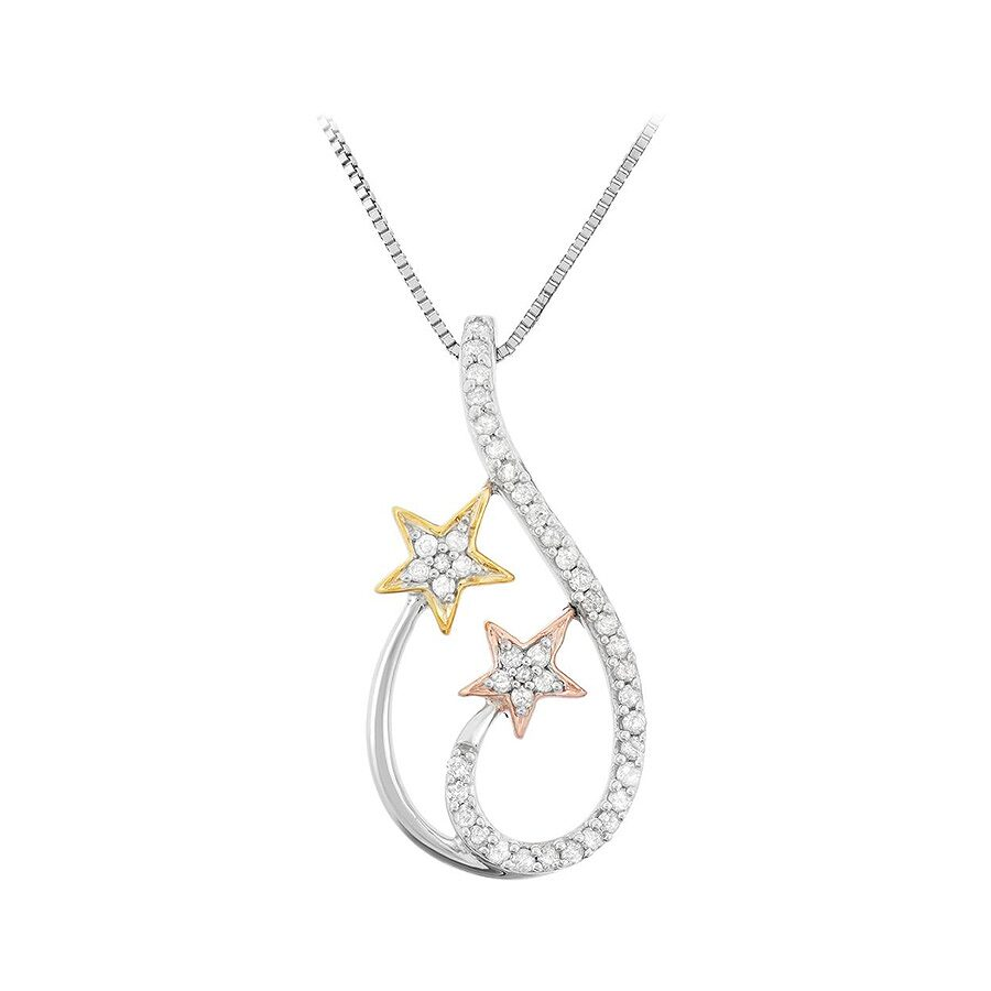 0.21 cttw Sterling Silver Diamond Necklace