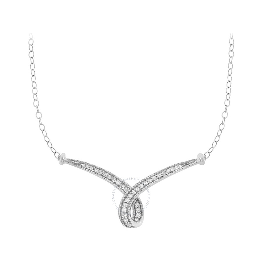 0.25 cttw 10kt White Gold Diamond Necklace (H-I, I1 I2)