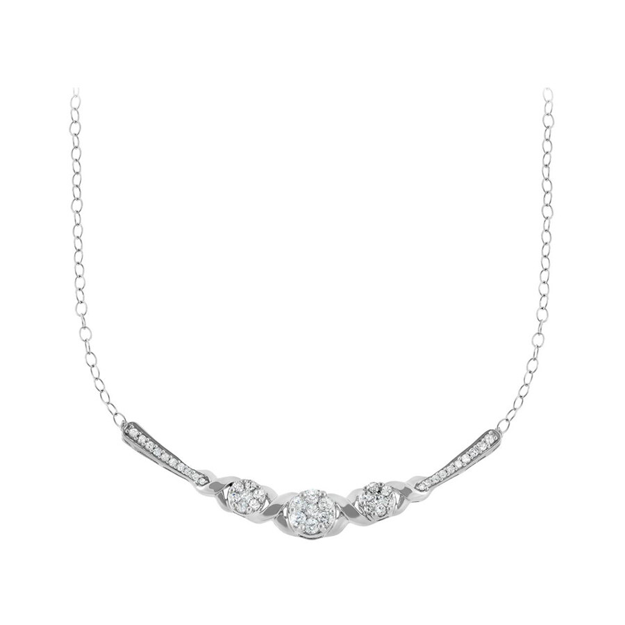 0.50 cttw 10k Whit Gold Diamond Necklace (H-I, I1 I2)