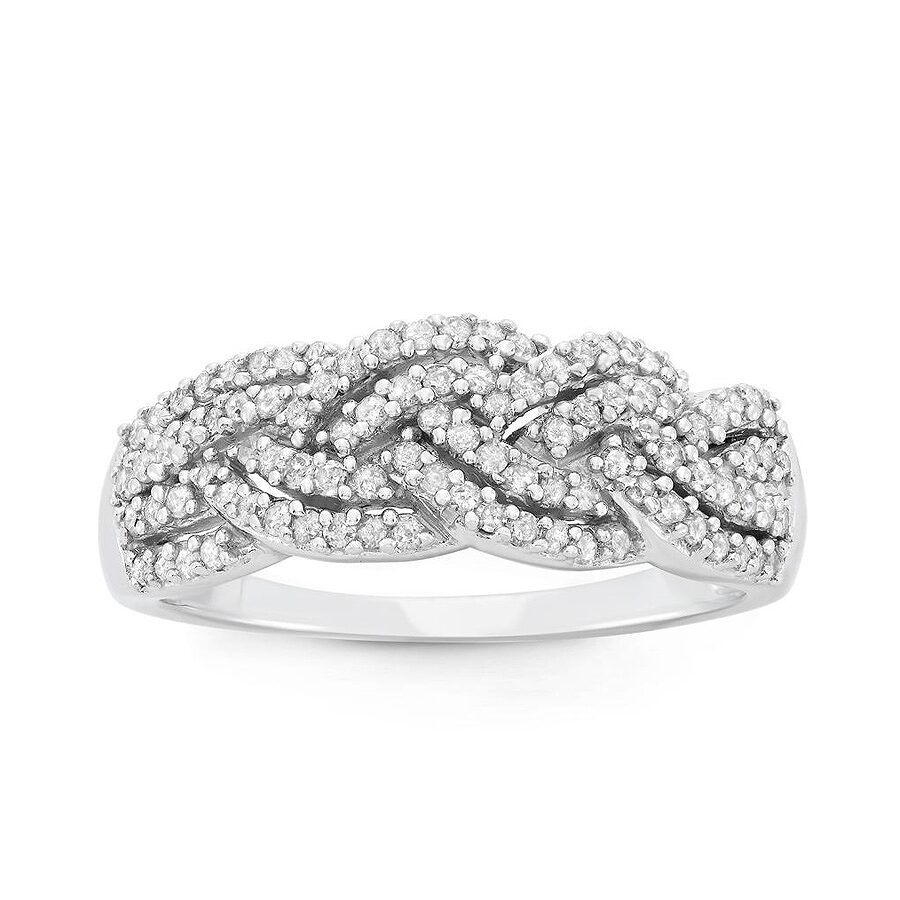 0.50 cttw 10k White Gold Diamond Ring (H-I, I1-I2) Size 6