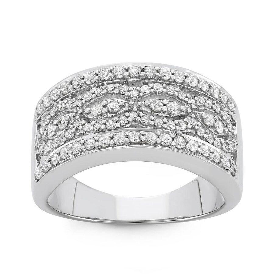 Hetal Diamonds 0 80 Cttw 10kt White Gold Diamond Ring H I