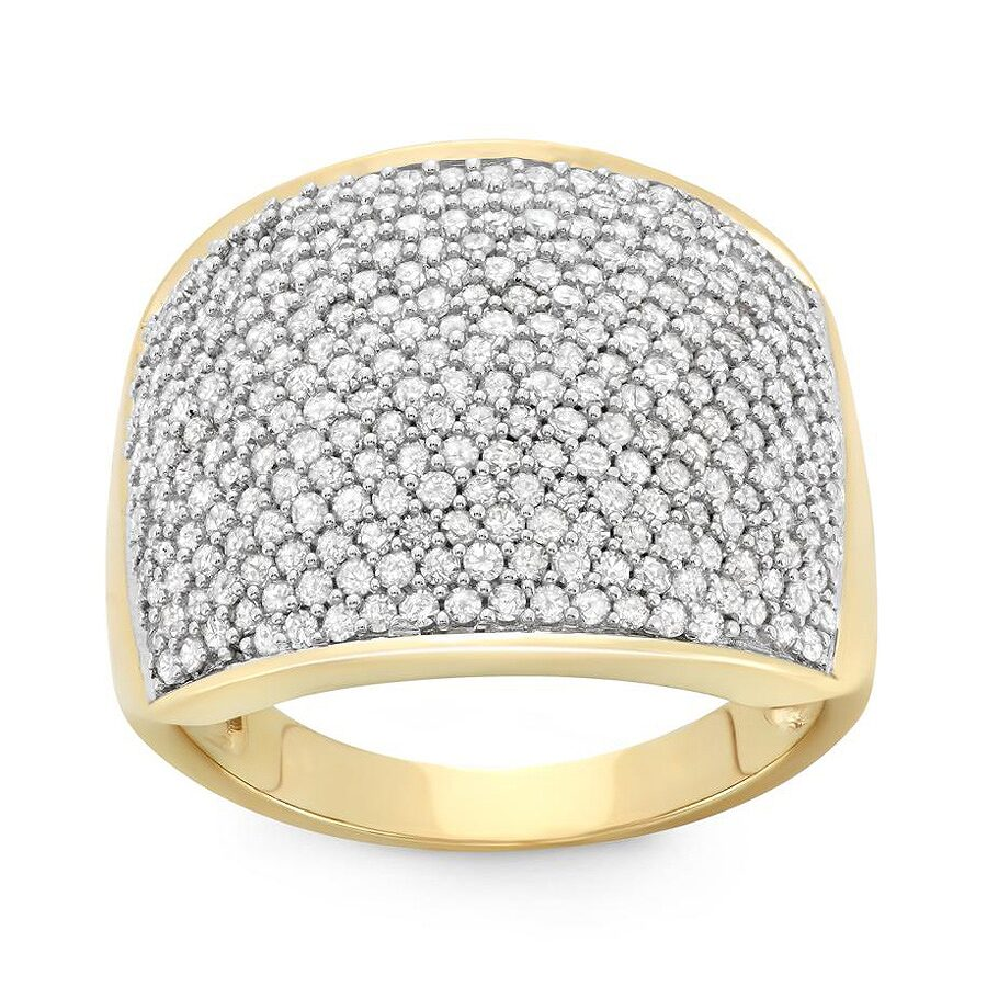 1 1/2 Cttw Diamond Band in 10 K Yellow Gold Size 5 Yellow Gold