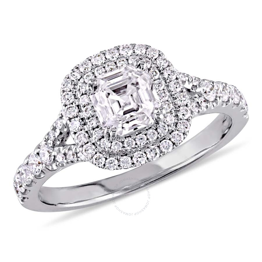 salvatore ctw halo ring cut gia diamond engagement co asscher rings