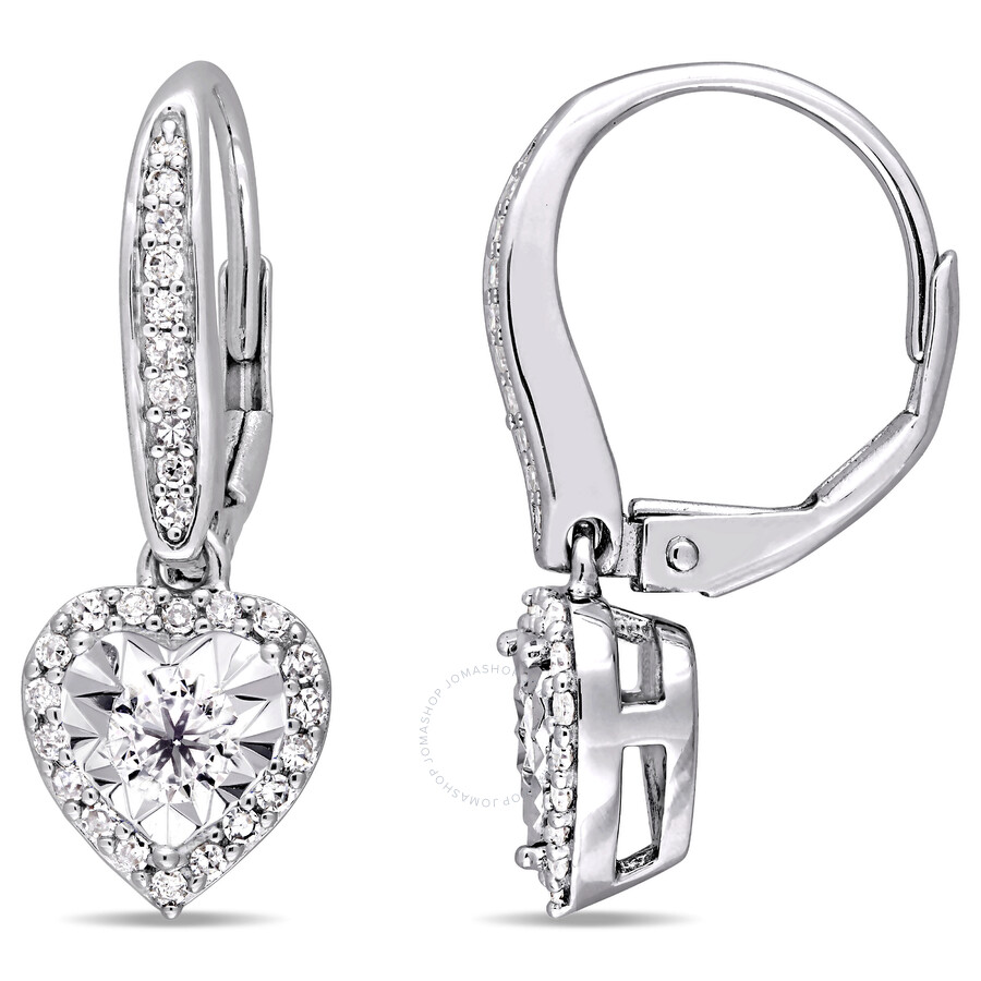 jewellery earrings simply zirconia halo zoom cubic silver square sterling earring diamond stud