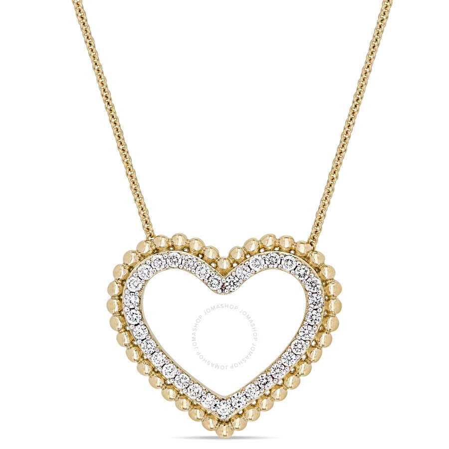 1/2 CT TW Diamond Heart Necklace in 14k Yellow Gold JMS004865