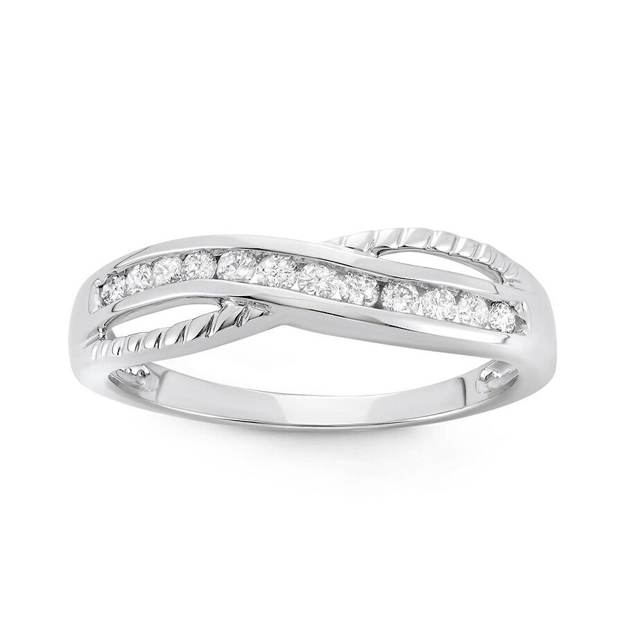 1/4 cttw 10k White Gold Diamond Ring (H-I, I1-I2) Size 7