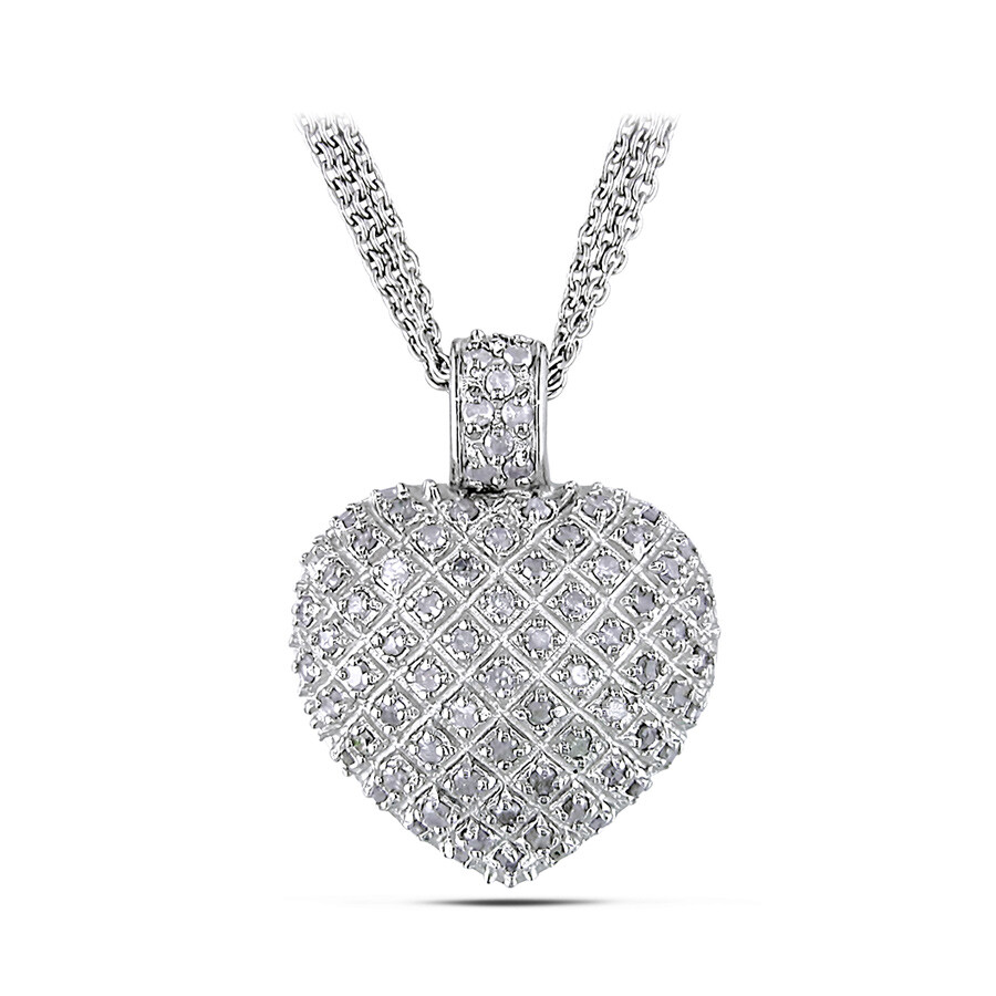 1 CT Diamond TW Necklace With Chain Silver I3 Length (inches): 18