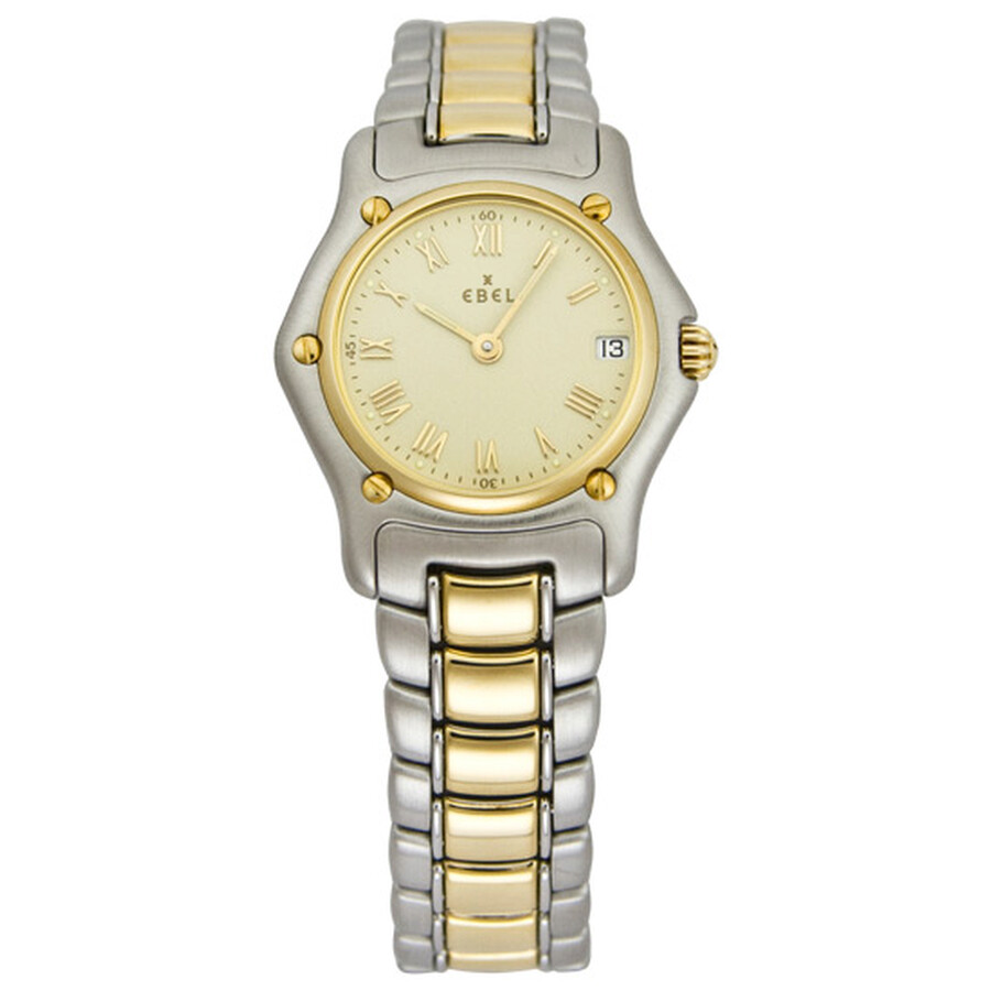 Ebel Classic Mini Champagne Dial Steel and 18kt Yellow Gold Ladies Watch 1088901-1260C