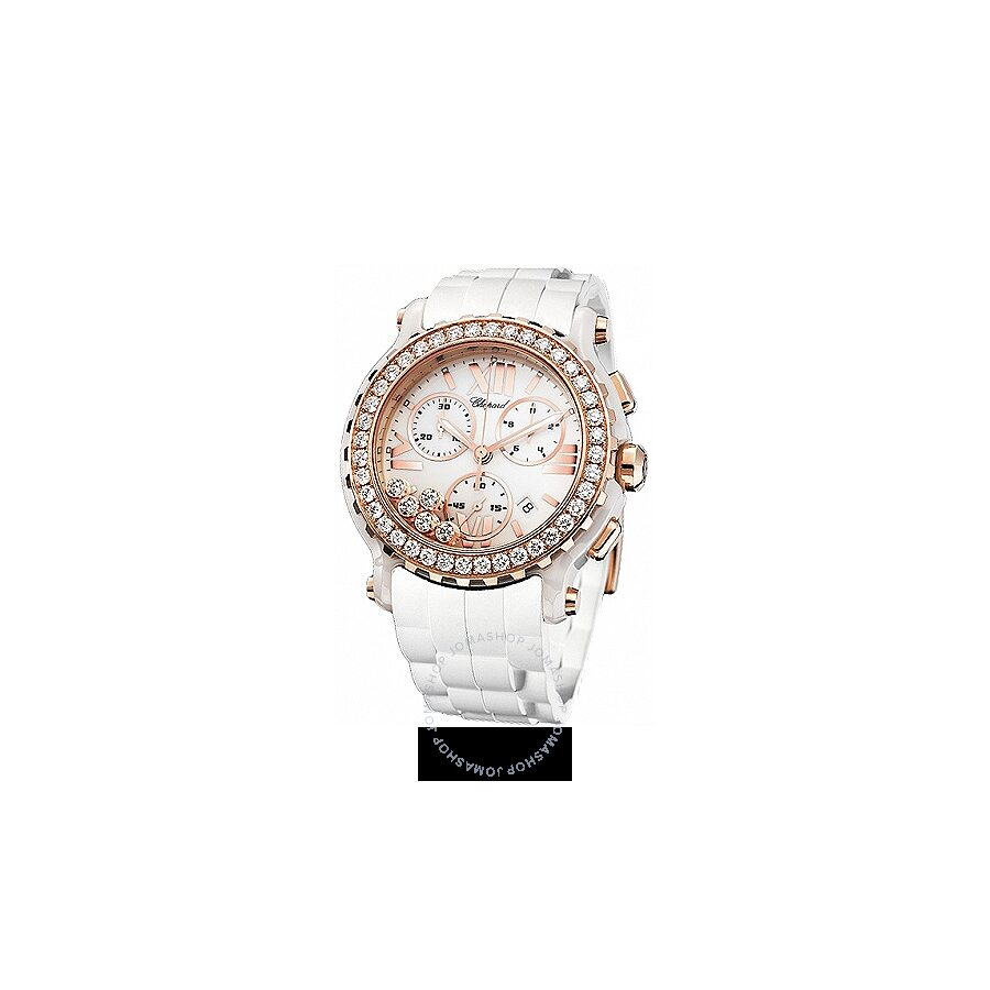 Chopard Happy Sport White Diamond Dial Chronograph Ladies Watch 288515-9002