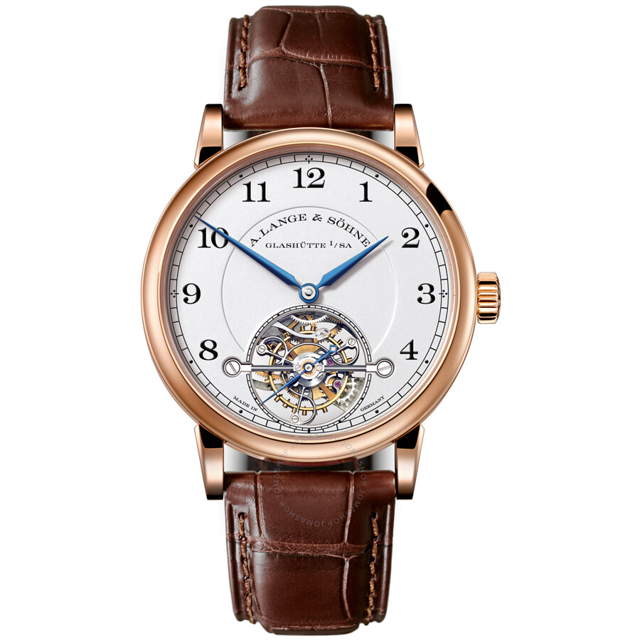 A. Lange and Sohne 1815 Tourbillon Silver Dial 18K Rose Gold Mens Watch 730.032