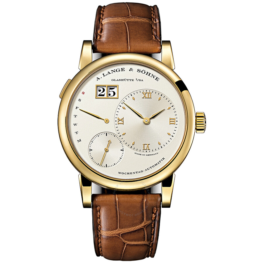 A. Lange and Sohne Lange 1 Daymatic Champagne Dial 18K Yellow Gold Ladies Watch 320.021