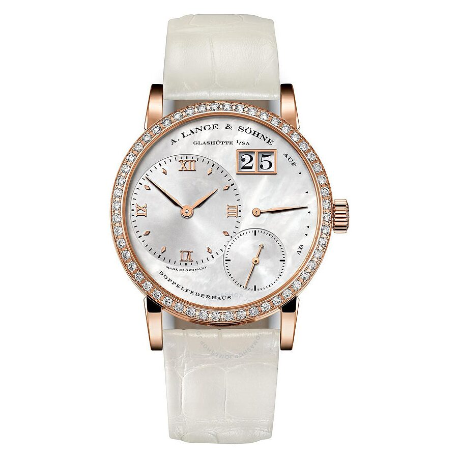A. Lange and Sohne Little Lange 1 Soiree 18K Rose Gold Diamond Ladies Watch 813.047