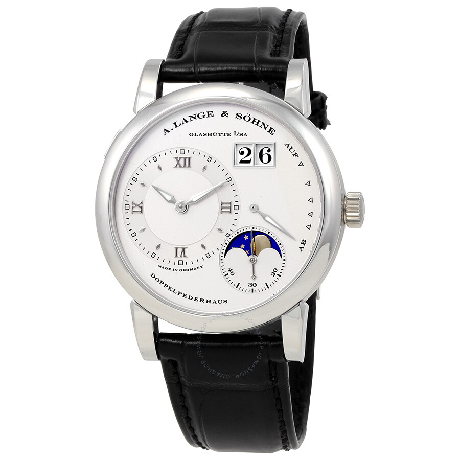 A Lange and Sohne Moonphase Silver Dial Platinum Mens Watch 109.025