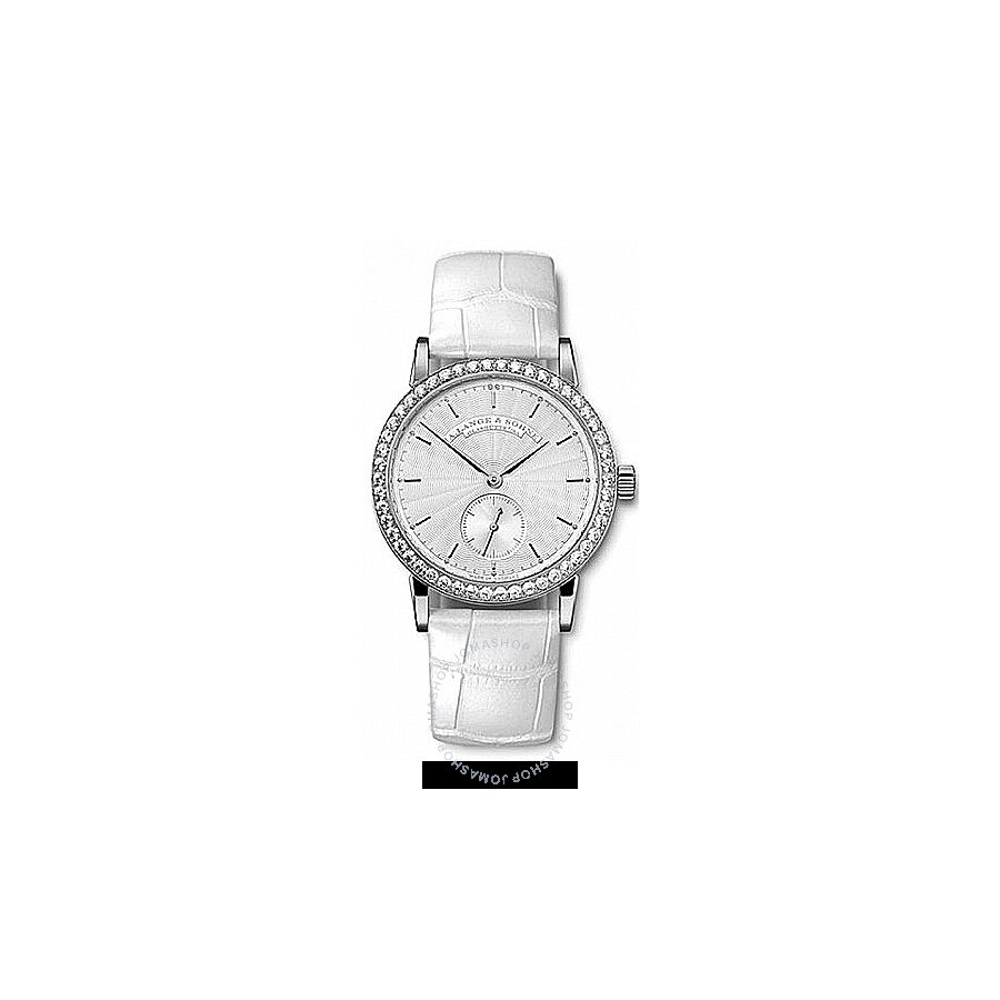 A. Lange and Sohne Silver Dial 18kt White Gold Diamond Ladies Watch 835.030