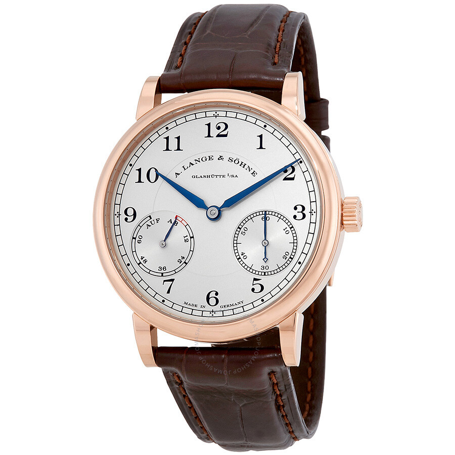 a lange sohne male a lange and sohne 1815 up down silver dial 18k yellow gold mens watch 234021