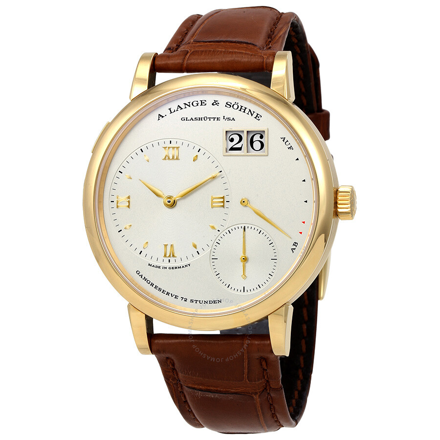 a lange sohne male a lange and sohne grand lange 1 18k yellow gold mens watch 117021