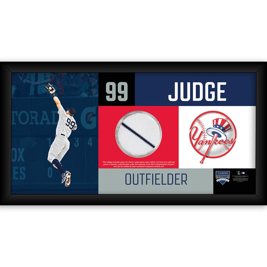 Aaron Judge New York Yankees 4x8 Frame with Game Used Uniform Swatch ...