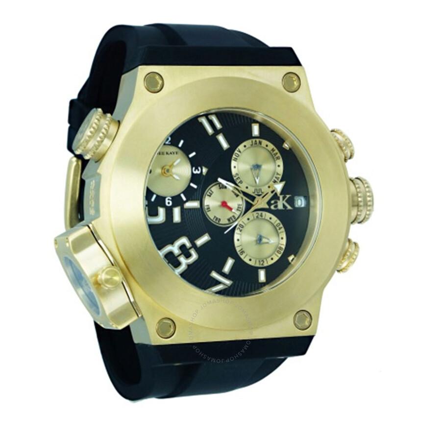 Adee Kaye Bulldozer G-2 Black Dial Mens Watch AK6666-MG