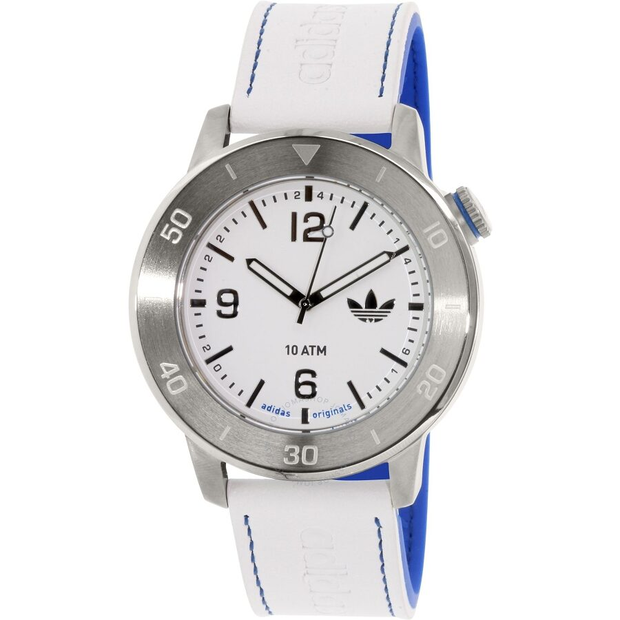 Adidas Manchester White Dial Rubber Strap Mens Watch ADH3010