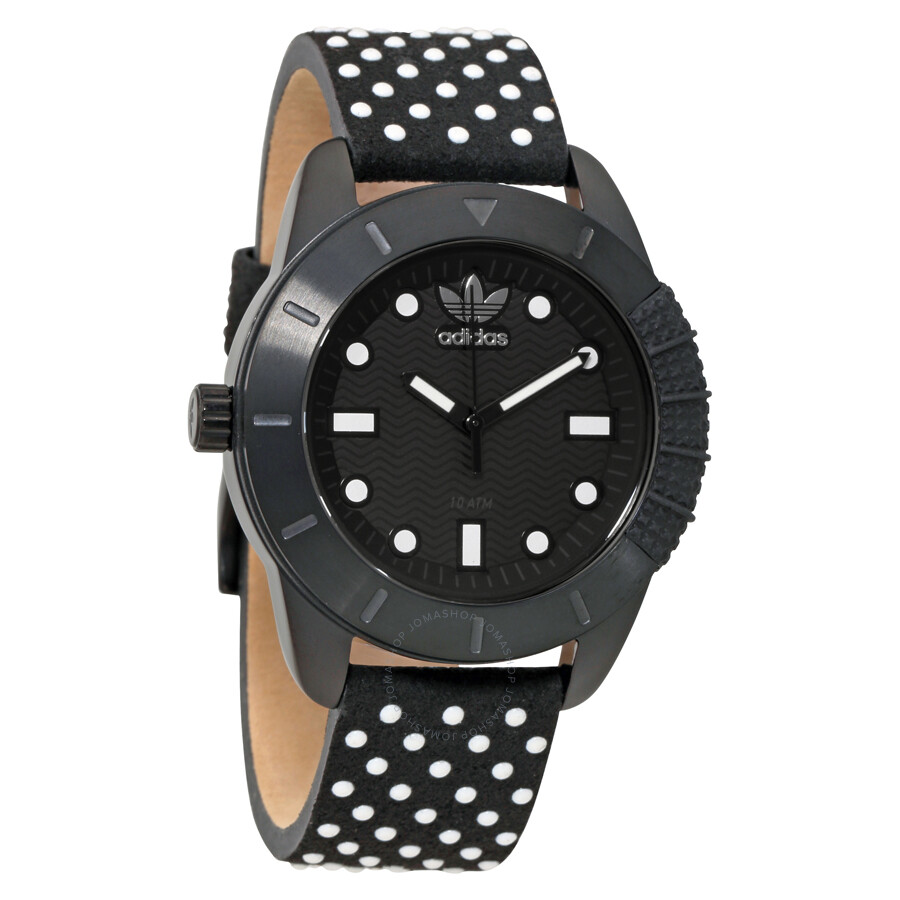 Adidas Originals Black Dial Polka Dot Strap Ladies Watch ADH3053