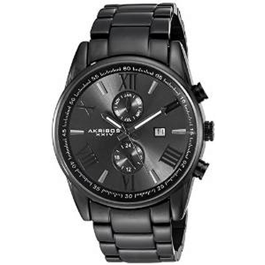 akribos xxiv male akribos xxiv radiant dark grey dial mens watch ak812bk