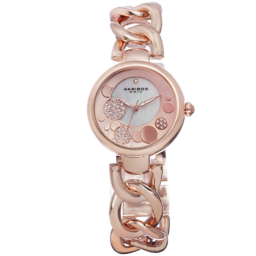 Akribos XXIV Rose Gold-tone Ladies Watch AK678RG