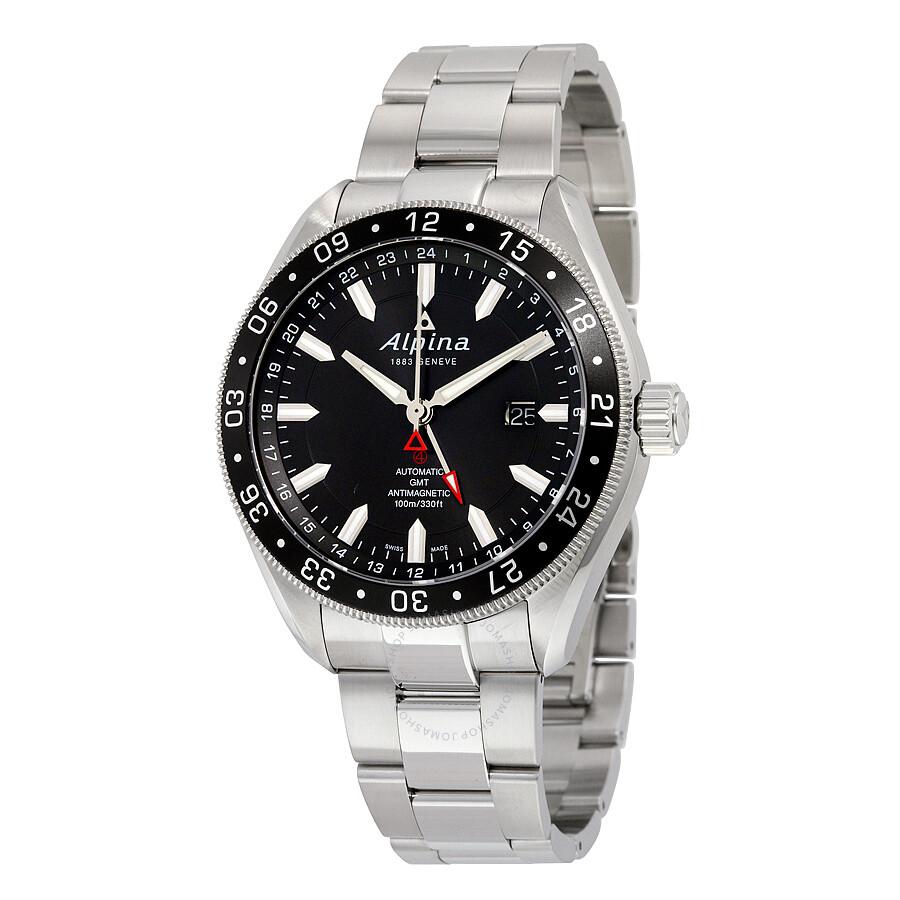 Alpina Alpiner GMT Automatic Black Dial Mens Watch ALGAQB - Alpina gmt