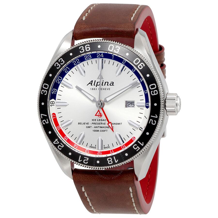 Alpina Alpiner GMT Automatic Silver Dial Mens Watch SRNAQ - Alpina gmt