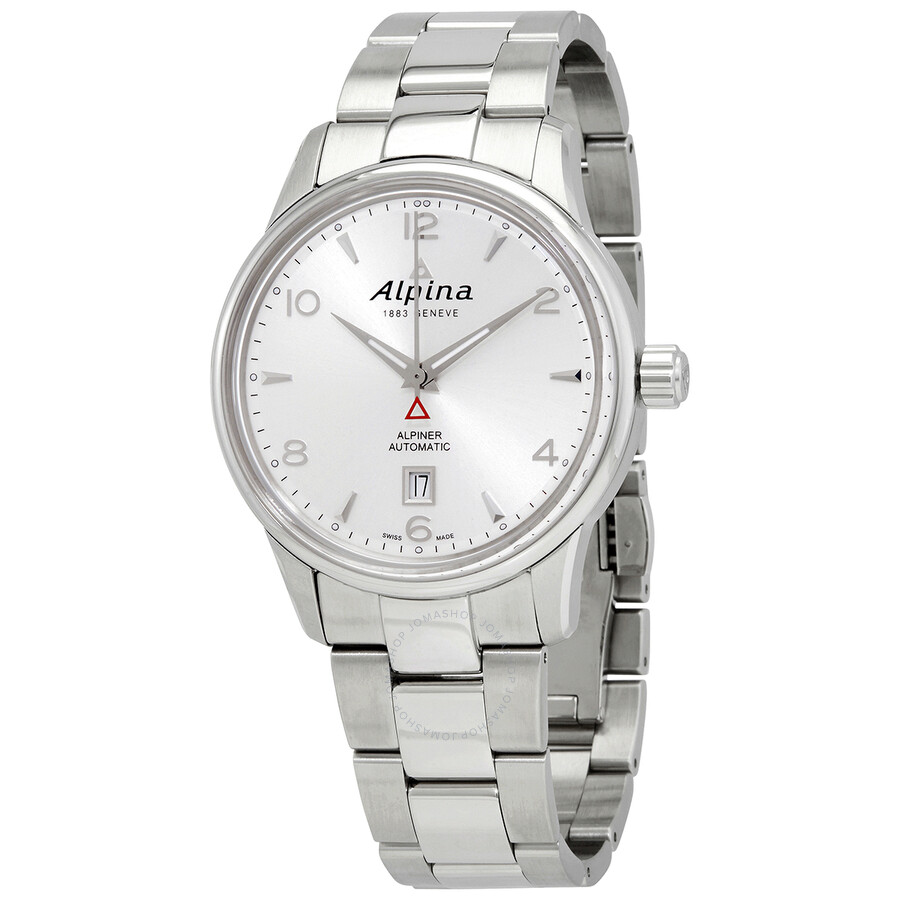 Alpina Alpiner Automatic Silver Dial Stainless Steel Mens Watch AL-525S4E6B