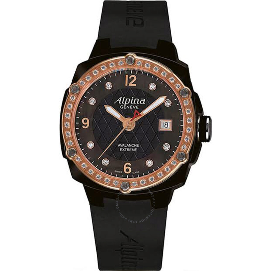 Alpina Avalanche Extreme Black Mother of Pearl Dial Ladies Watch AL-240MPBD3FBAEDC4