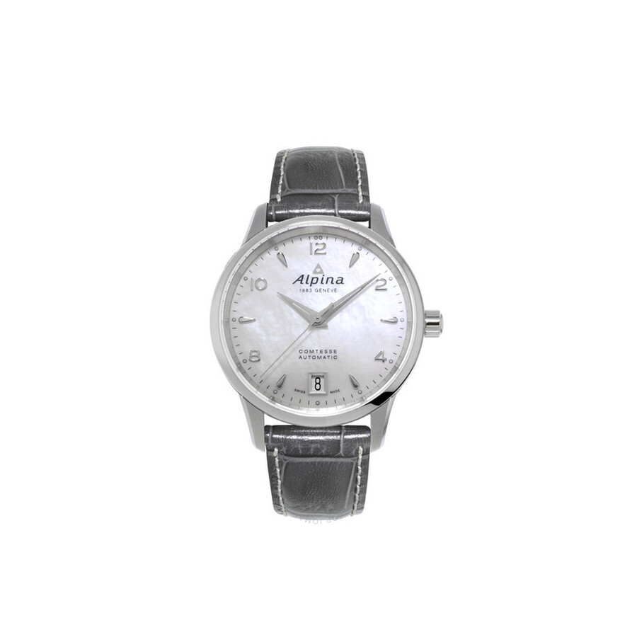 Alpina Comtesse Automatic White Mother of Pearl Dial Ladies Watch AL-525APW3C6