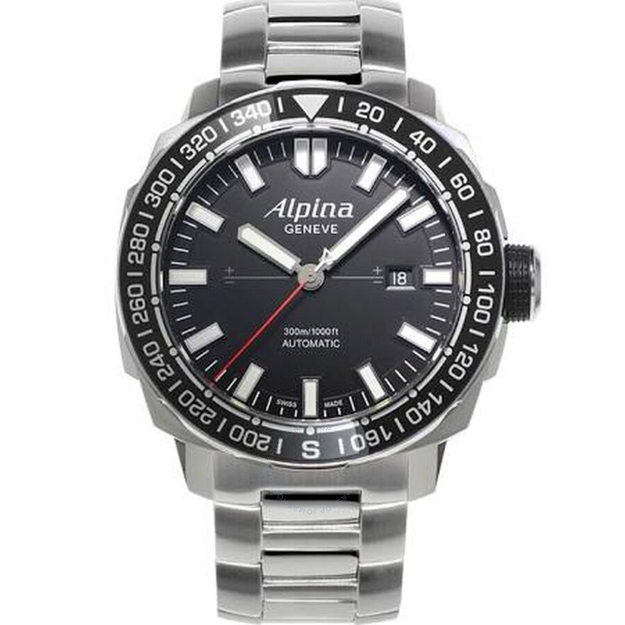 Alpina Yacht Timer Black Dial Mens Watch AL525LB4V6B