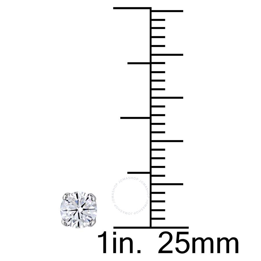Amour 1 2 Ct Tw Diamond Stud Earrings With Backs In 14k White Gold Jms003111