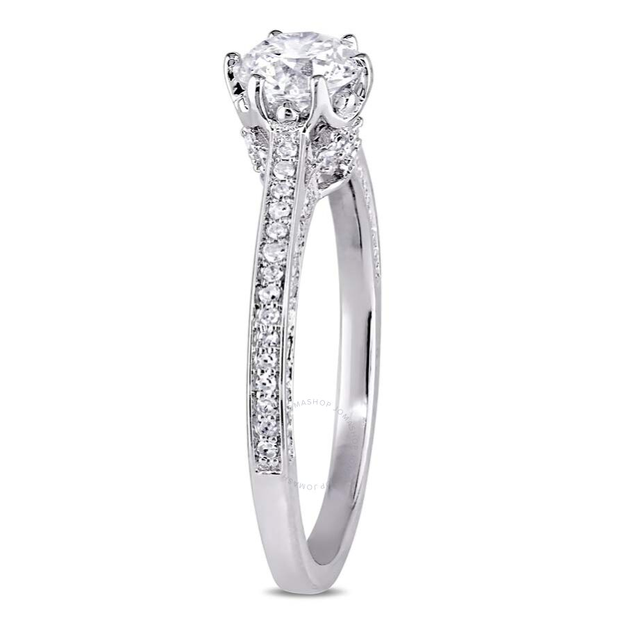 white ring side three asscher center stones cut diamond with rings ascher stone gold in baguette engagement tapered and