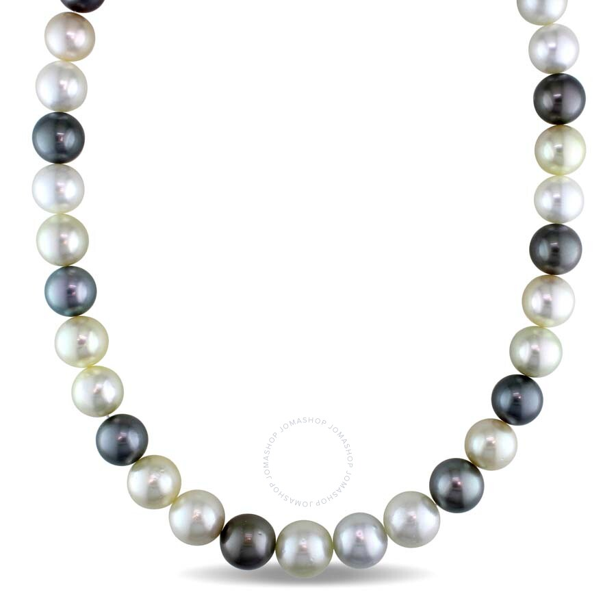 Amour 10-12.5 MM Multi-Colored South Sea and Tahitian Pearl Strand Necklace ..