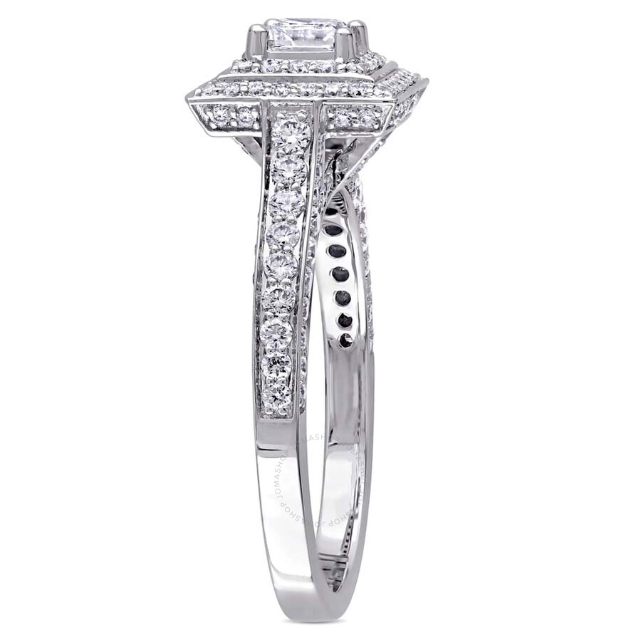 rng ct diamond square wedding cut rings large round ring