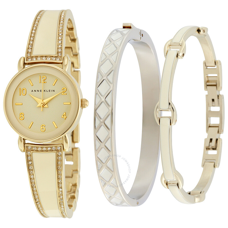 Ane Klein Glossy Ivory Dial Quartz Ladies Watch 2052IVST