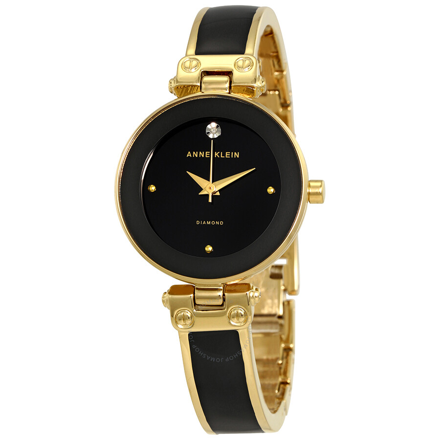 Anne Klein Black Dial Ladies Watch 1980BKGB