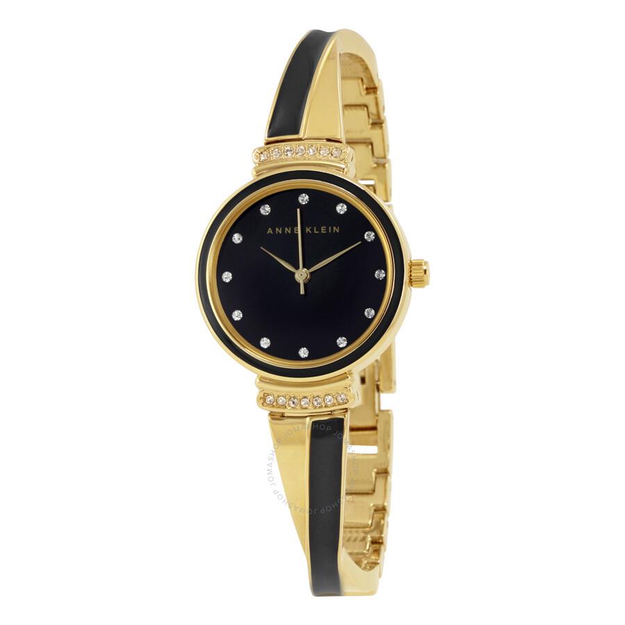 Anne Klein Black Dial Ladies Watch 2216BKGB