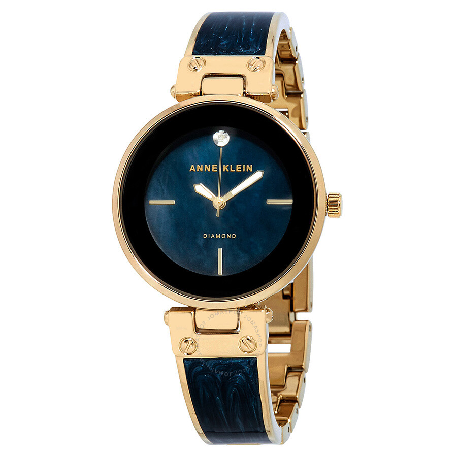 Anne Klein Navy Mother of Pearl Dial Ladies Watch 2512NVGB