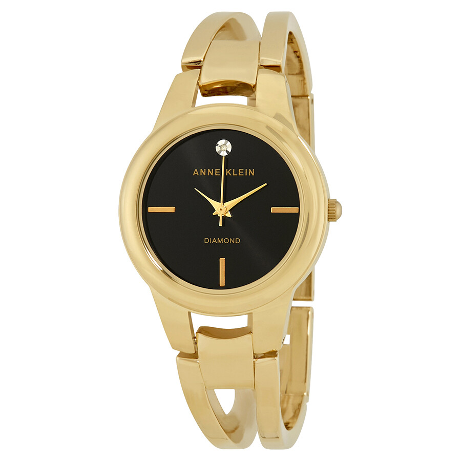 Anne Klein Black Dial Ladies Watch 2628BKGB