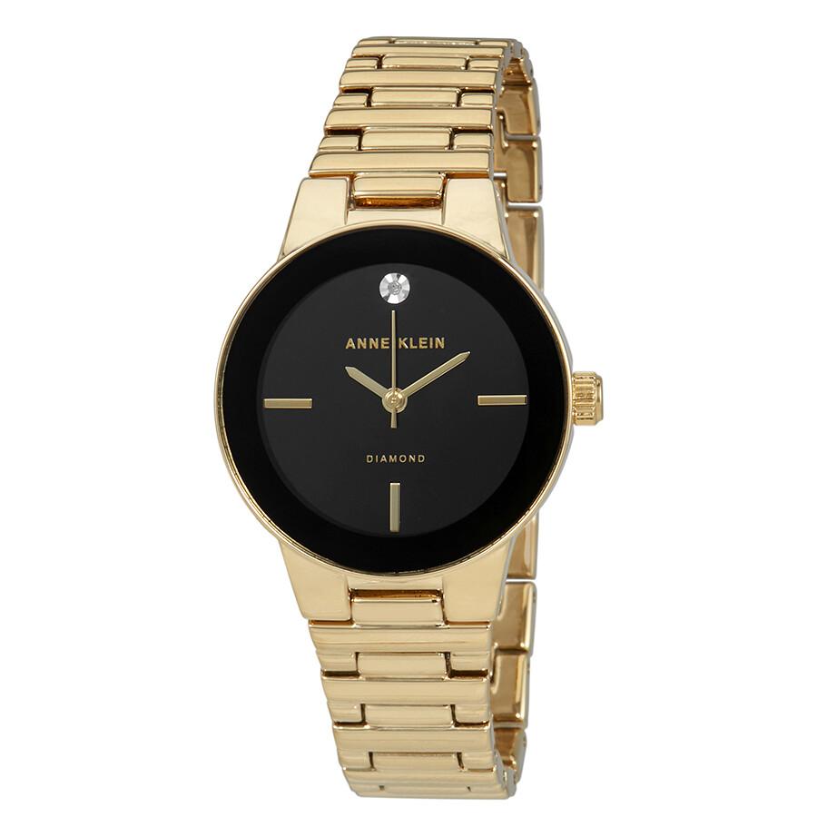 Anne Klein Black Dial Ladies Watch 2670BKGB