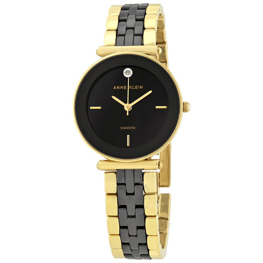 Anne Klein Black Dial Ladies Watch 3158BKGB