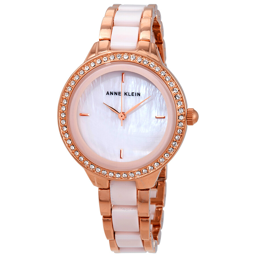 Anne Klein Blush Mother of Pearl Dial Ladies Watch 1418RGLP