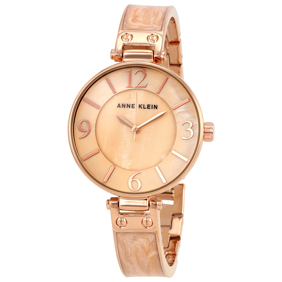 Anne Klein Blush Mother of Pearl Dial Ladies Watch 2210BMRG