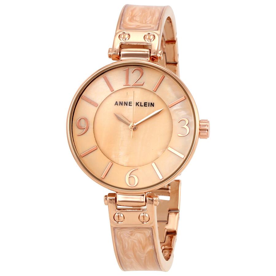 Anne Klein Blush Mother of Pearl Dial Ladies Watch 2210BMRG