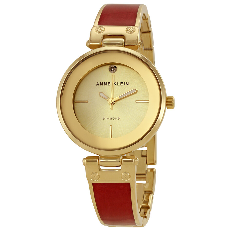 Anne Klein Champagne Dial Ladies Watch 2512BYGB