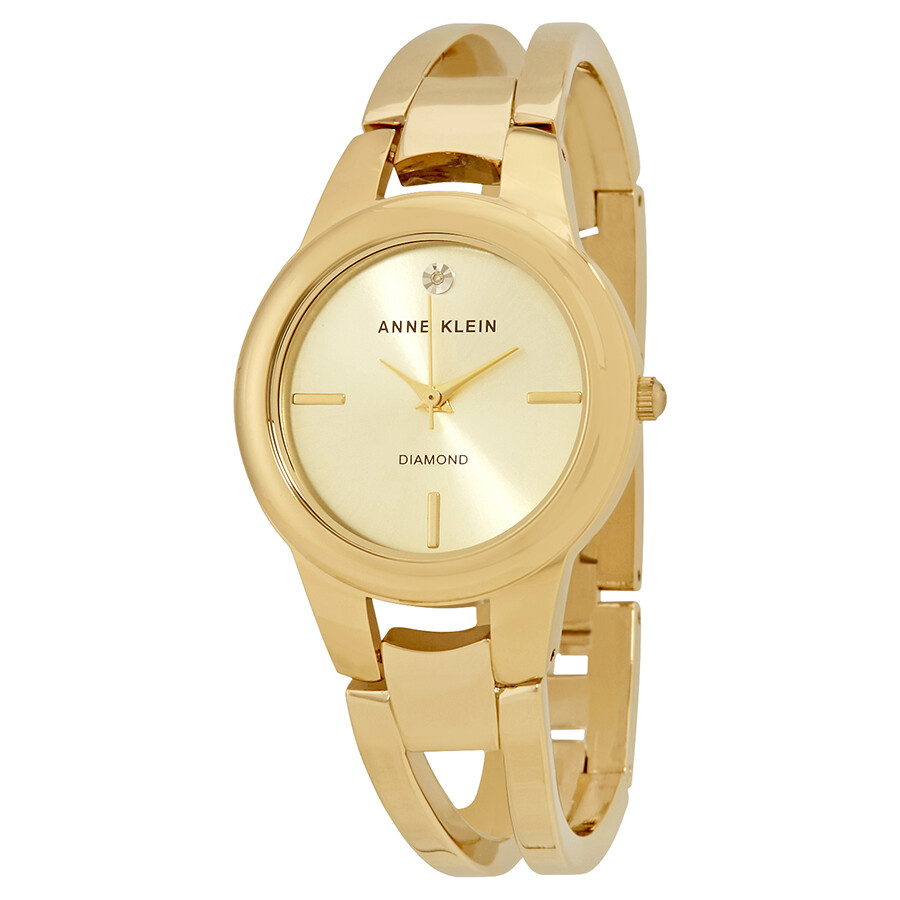 Anne Klein Champagne Dial Ladies Watch 2628CHGB