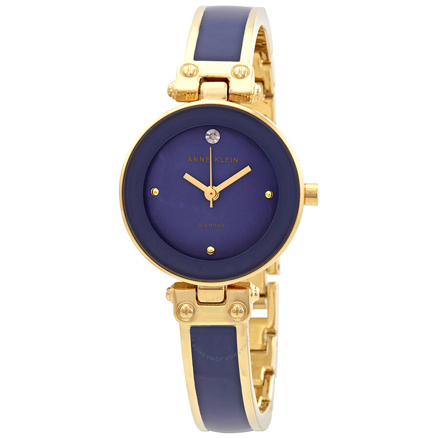 Anne Klein Diamond Blue Dial Ladies Watch 1980DBGB