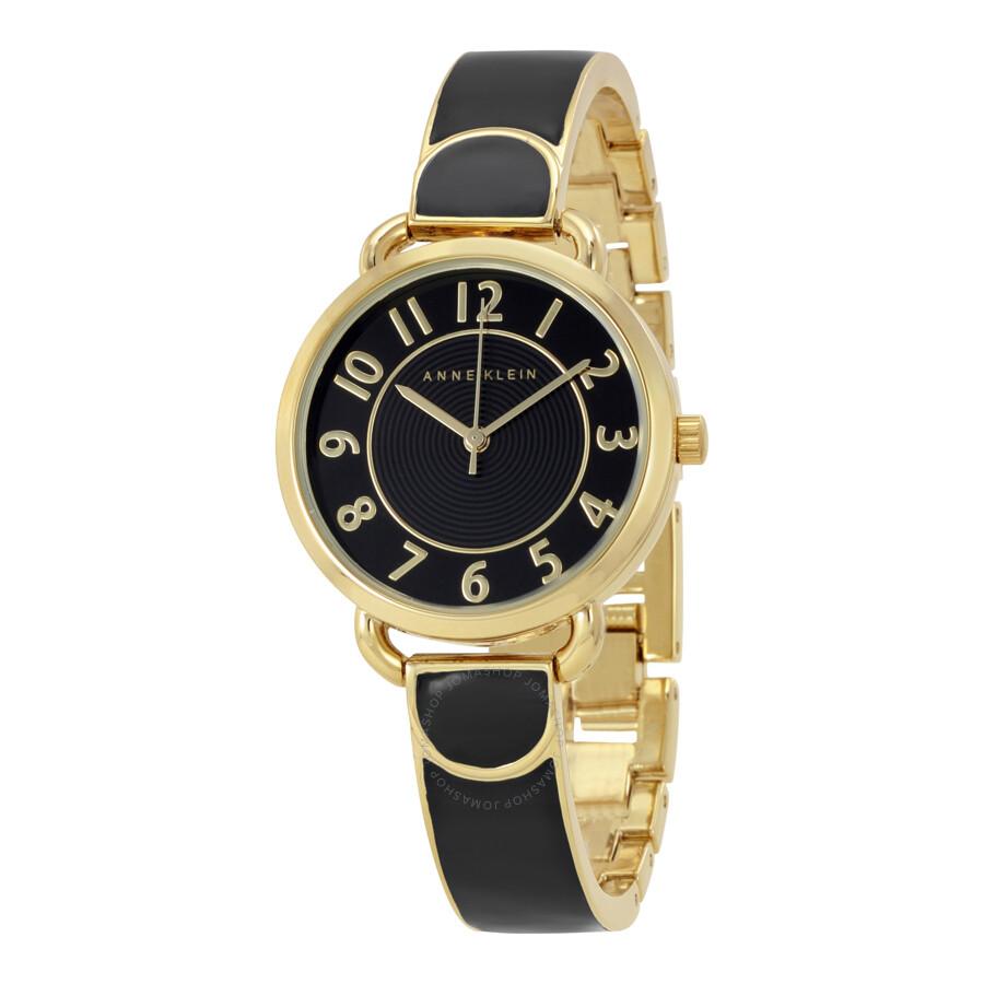 Anne Klein Gold Dial Ladies Watch 1606BKGB
